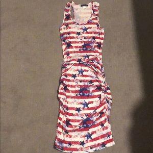 American flag maxi dress